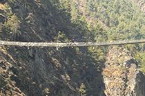 高度感のあるつり橋